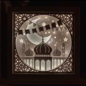 Ramadan Paper Art Light Shadow Box 3d Papercut Light Box 3d Ramadan Lantern Ramadan Lantern Light Art Paper Art