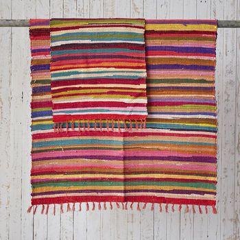 Fair Trade Handloomed Cotton Rag Rugs Rugs On Carpet Standard