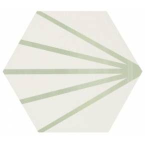 Carrelage Hexagonal Au Design Vintage Mat A Motif Bleu