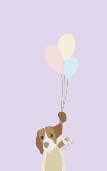 Dog Balloons Dog Wallpaper Iphone Puppy Wallpaper Iphone Cartoon Wallpaper