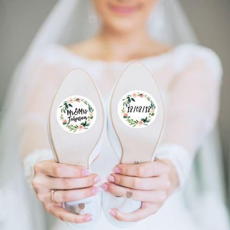 Accessoires - Individueller Schuhaufkleber Blumen - ein Designerstück von Herzpost bei DaWanda