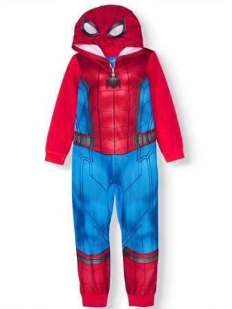 Superhero Blanket Sleeper Fleece Pajama Costume Style Captain America Spiderman