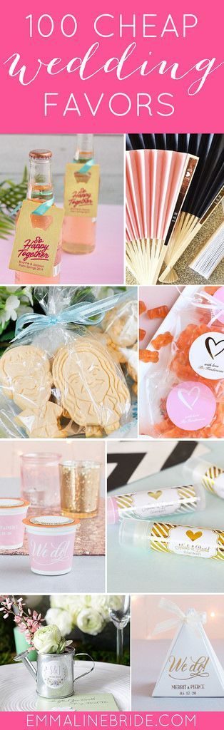100 Awesomely Cheap Wedding Favors | #affordableweddingfavors #cheapweddingfavors #favorideas #favors #inexpensiveweddingfavors #partyfavors #weddingfavorideas #weddingfavors | cheap wedding favors round-up