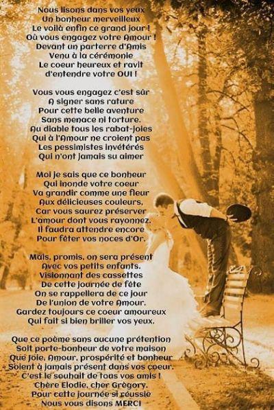 Connu Texte D Amour Pour Mariage Mariage Citation Poeme