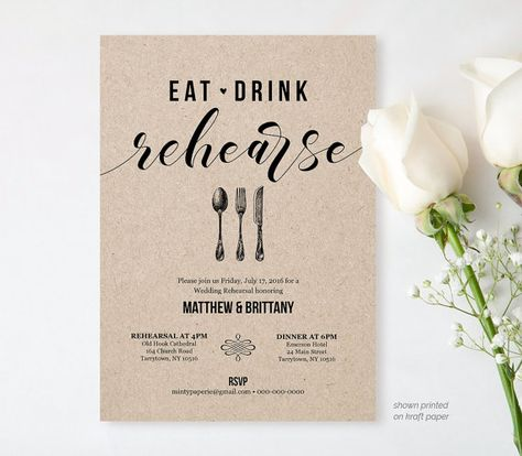 Post Wedding Brunch Invitation Template by MintyPaperieShop