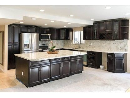 Swiss Mocha Ready To Assemble Rta Kitchen Cabinets Best Online Cabinets Defa With Images Espresso Kitchen Cabinets Dark Brown Kitchen Cabinets Brown Kitchen Cabinets