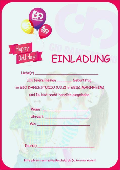 Einladung Geburtstag Einladungskarten Geburtstag Vorlagen