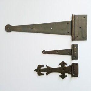 蝶番 327mm 真鍮 アンティーク調 金物 金具 部品 丁番 ヒンジ