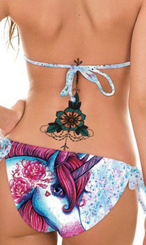 Bohemian Floral Flower Colorful Sternum Tattoo Ideas for Women - Lotus Underboob Tat -  ideas del tatuaje del esternón del loto para las mujeres - www.MyBodiArt. com #tattoos
