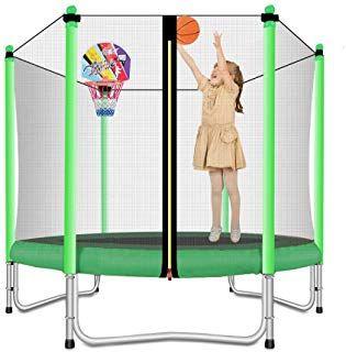 Lovely Snail Trampoline With Basketball Hoop Trampoline For Kids 5 Feet Kids Trampoline Best Trampoline Mini Trampoline