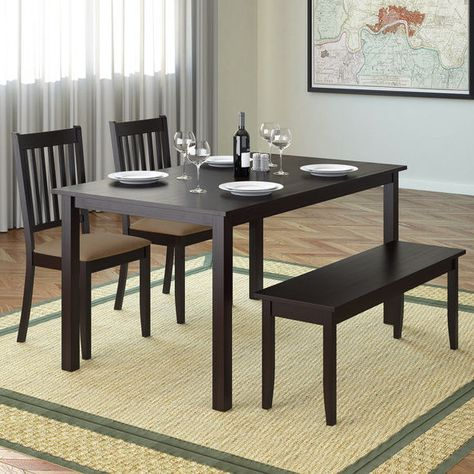 dining table set with bench dining table bench kitchen home rh pinterest es