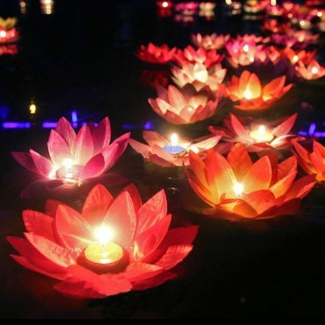 3 Color 10pcs Round Cute Floating Candles Wedding Festival Party Decor