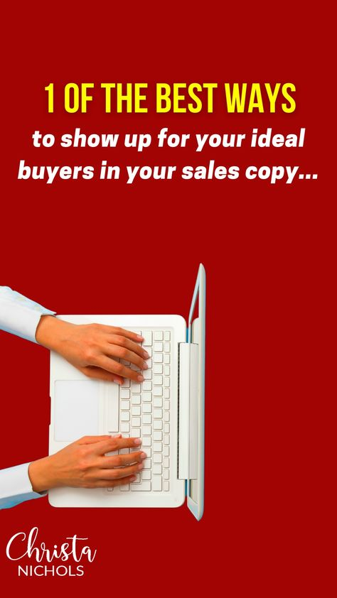 The #1 Way to Show Up for Your Target Audience Before Writing Sales Copy | Ideal Buyers and Ad Copy