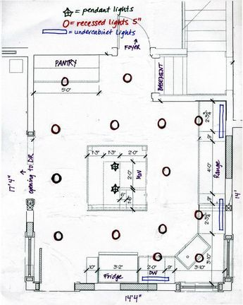 Kitchen Lighting Layout In 2019 Recessed