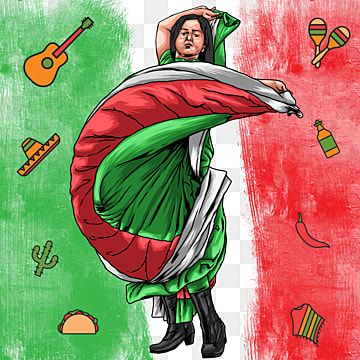 Mexico Independence Day Girl Dancing Independence Mexico Holiday Png Transparent Clipart Image And Psd File For Free Download Independence Day Drawing Creative Illustration Creative Graphic Design