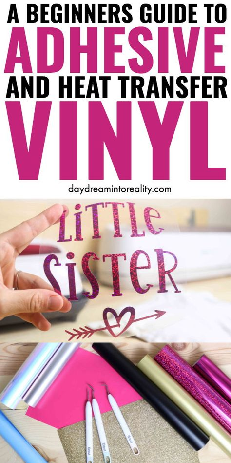 What in the world is Vinyl in the Cricut World? Learn everything there is to know about HTV and Adhesives using your Cricut. What in the world is Vinyl in the Cricut World? Learn everything there is to know about HTV and Adhesives using your Cricut. How To Use Cricut, Cricut Help, Cricut Craft Room, Cricut Vinyl, Vinyl Crafts, Vinyl Projects, Wood Crafts, Sewing Projects, Cricut Explore Projects