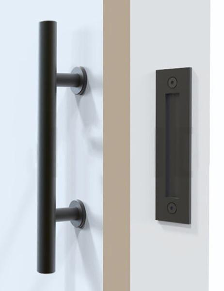 Barn Door Handle 12 Flush Mount Black Barn Door Handles Wood Doors Interior Door Handles