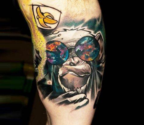 Monkey tattoo by Matyas Halasz