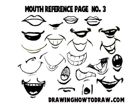 Step 03 mouths reference 300x228 Drawing Cartoon & Illustrated Mouths & Lips Reference Sheets