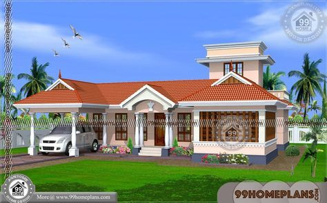 Single Floor House Plans Kerala 70 Traditional Modern Homes Online Kerala House Design House Designs Exterior House Paint Exterior