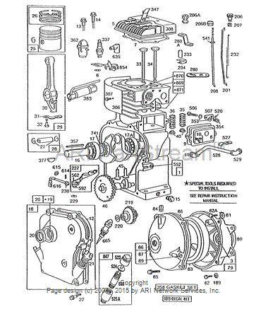 11 hp briggs carburetor diagram wiring schematic find replacement   repair parts for briggs   stratton engines  repair parts for briggs   stratton