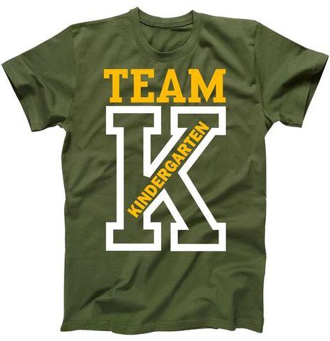 Team Kindergarten Teacher Logo T-Shirt