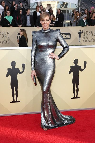 Actor Allison Janney attends the 24th Annual Screen Actors Guild Awards.