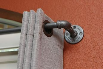 Curtain Rod Long Industrial Chic Curtain Rod 97 166 With