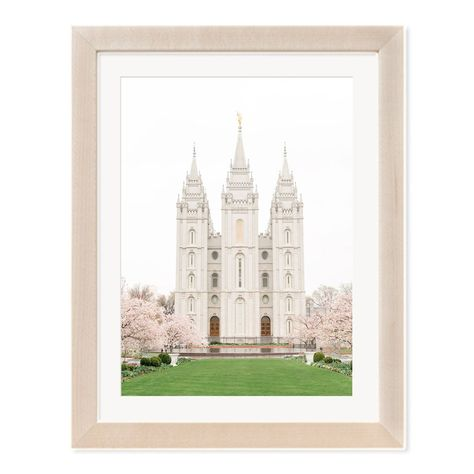 A rainy springtime day at the Salt Lake Temple surrounded by cherry blossom trees. See link for available print options. #utahtemples #ldstemples #ldstemple #saltlakecity #saltlake #saltlaketemple #templephotography #templeart #utahweddings #utahwedding #ldswedding #ldstemplewedding #ldsbride