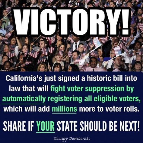 stop republicans' strategy of voter suppression like California just did.  I mean, WTF?  Gee, why would republicans want voter suppression?  If you don't really know, you need some education - NOW.