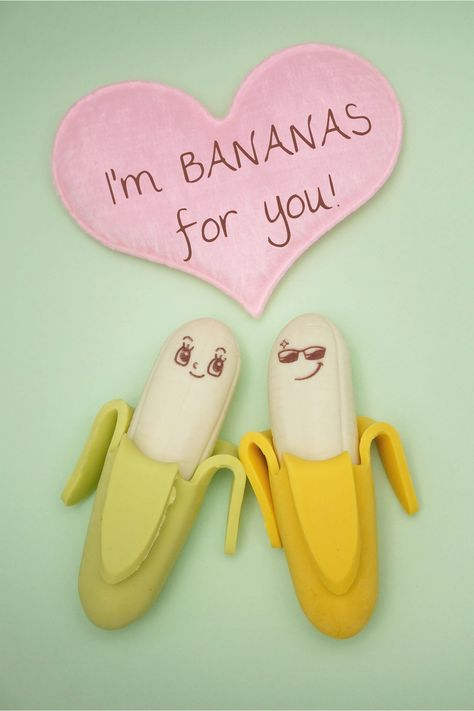 I'm BANANAS for you! | Create Valentine's Day puns with Stencil! #bananas #valentinesday #valentines