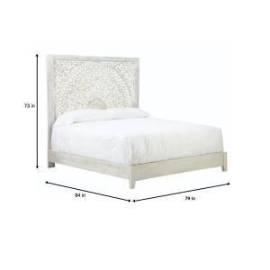 Home Decorators Collection Chennai White Wash King Platform Bed 9467810410 - The Home Depot