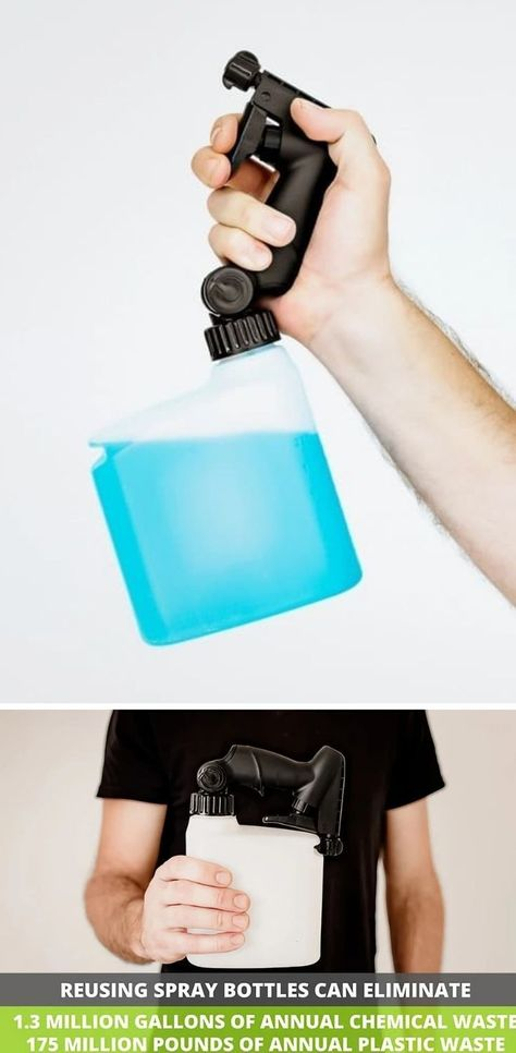 Someone FINALLY designed a flexible spray bottle that can be used even while it's tilted