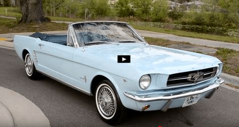 It's not a Boss or a Mach 1, but this Skylight Blue 1964 1/2 Ford Mustang Convertible is a pristine example of American automotive history. Check it out!