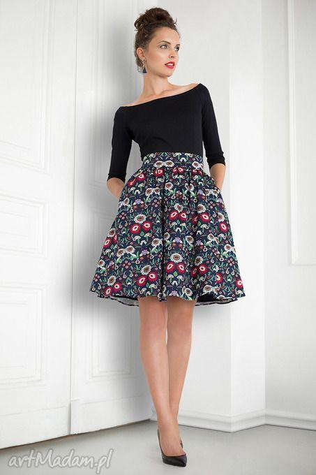 Spodnica Rozkloszowana Folk Kwiaty Tiul Podszewka Skirt Fashion Fashion Fashion Inspo