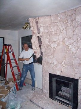 how to remove a lava rock fireplace rock fireplaces paint