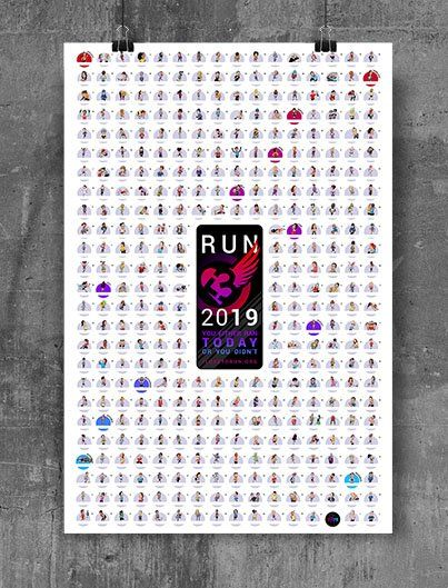 Running Calendar 2019 2019 Runner's Visual Calendar #eBibs #RunningHumor #RunningQuotes