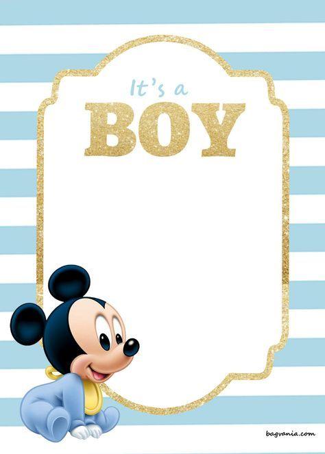 Free Printable Disney Baby Shower Invitations Mickey Mouse Baby Shower Mickey Mouse Invitation Disney Baby Shower