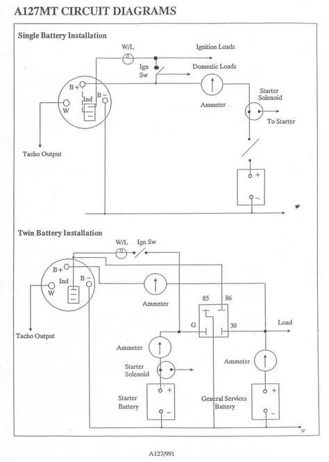 creative lucas a127 alternator wiring diagram fine (with images ... a127 alternator wiring diagram lucas 16 acr alternator wiring diagram pinterest