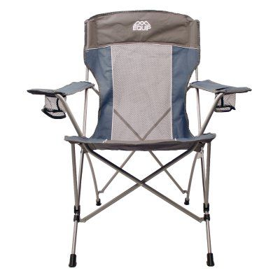 Awe Inspiring Outdoor Equip High Back Folding Chair Glacier Blue Stormy Machost Co Dining Chair Design Ideas Machostcouk