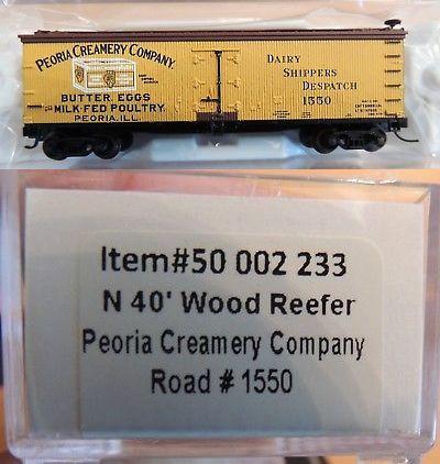 Freight Cars 69814: New Atlas N Gauge 40 Wood Reefer Peoria Creamery