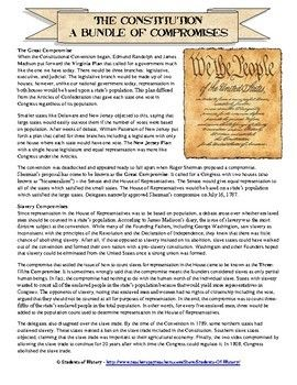 Compromises Of The Constitutional Convention Constitution