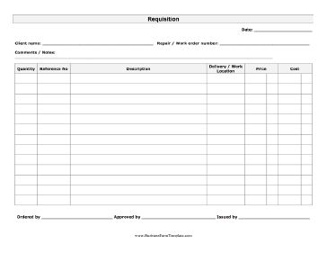 office supplies request form template free