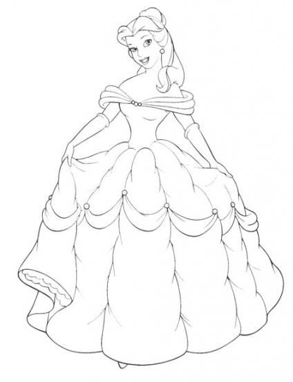 Coloring Book Free Disney Belle Coloring Pages More Than 49