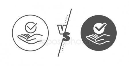 Approved Line Icon Accepted Or Confirmed Sign Vector Stock Vector Ad Icon Accepted Approved Line Ad Line Icon Symbols Icon