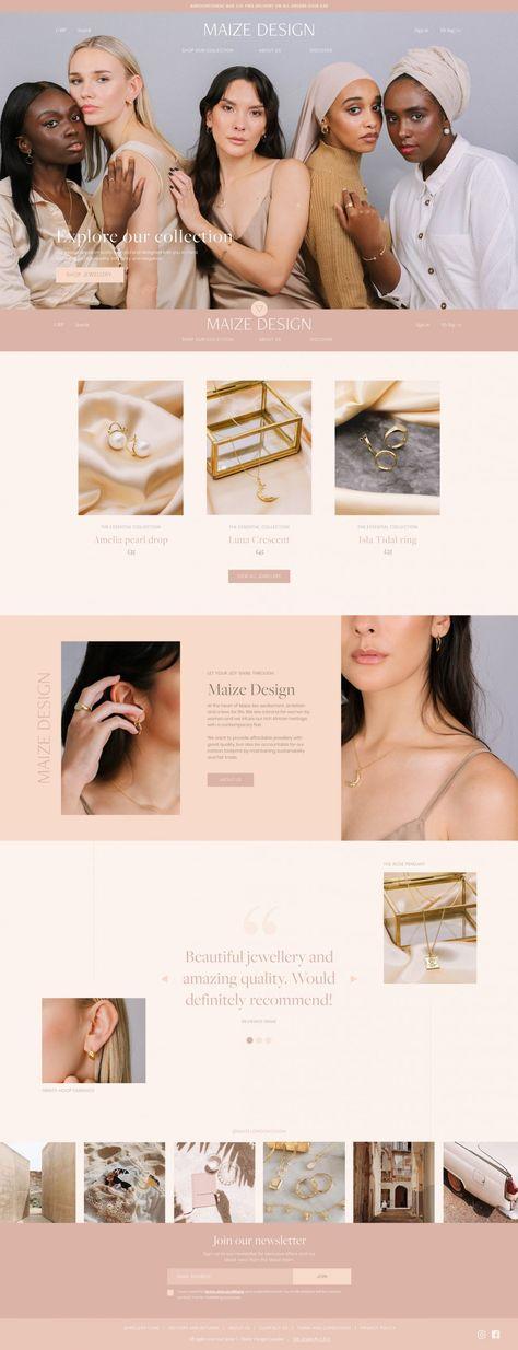 Maize Design Jewellery: website launch - Lucy Elliott Design