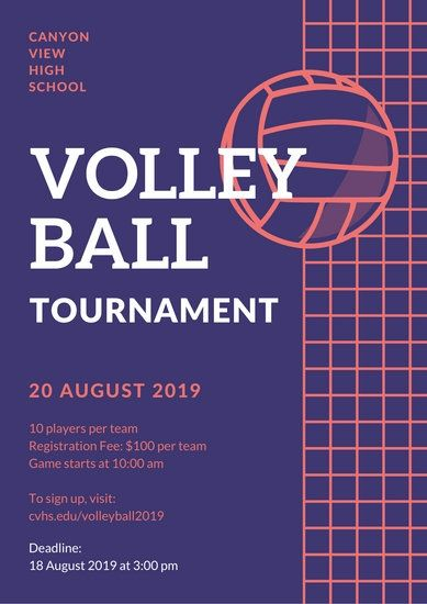Customize 27 Volleyball Poster Templates Online Canva Volleyball Posters Event Poster Template Flyer