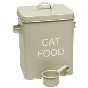 Vintage Retro Style Matt Enamel Cat Food Tin The Trendy Tin