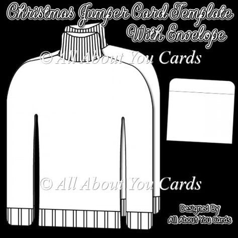 Christmas Jumper Card And Envelope Template 4 00