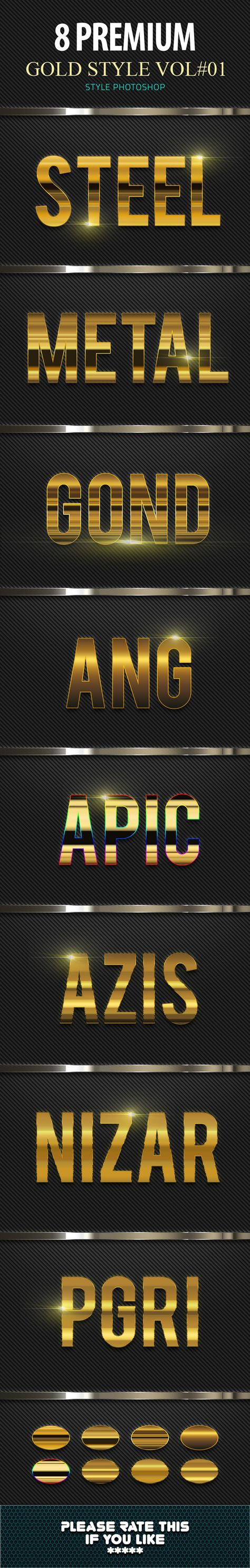 8 Gold Photoshop Text Effect